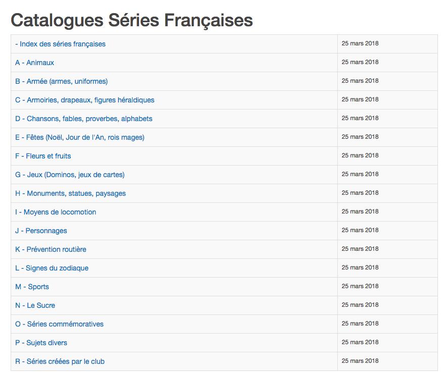 Le Site Officiel Du Club Des Glycophiles Francais Catalogues Series Francaises
